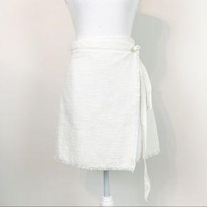 Sugar+Lips women tweet wrapped skirt fringe hem